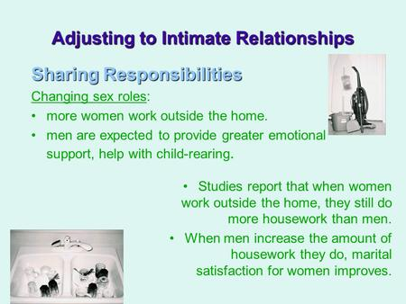 Adjusting to Intimate Relationships