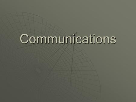 Communications. - Communication is a big part of everyday life - We communicate most effectively by using both aural and visual communication - When it.