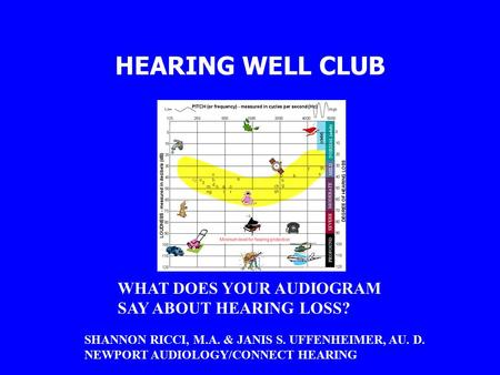 HEARING WELL CLUB WHAT DOES YOUR AUDIOGRAM SAY ABOUT HEARING LOSS?