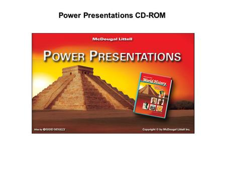 Power Presentations CD-ROM. Overviews Using the Main Menu Navigating the Power Presentations & Images Interactives Working with the Media Gallery Accessing.