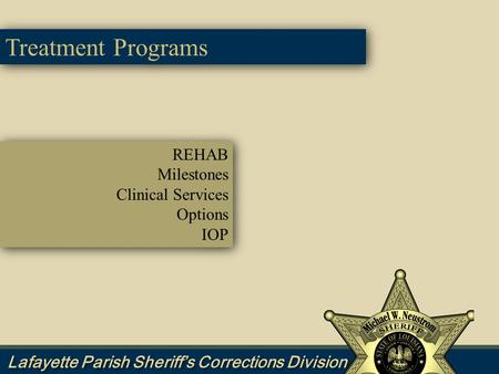 REHAB Milestones Clinical Services Options IOP REHAB Milestones Clinical Services Options IOP Treatment Programs.