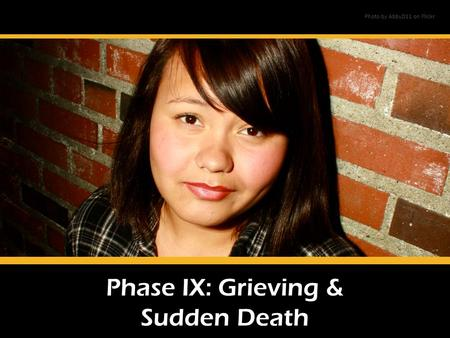 Phase IX: Grieving & Sudden Death Photo by AbbyD11 on Flickr.