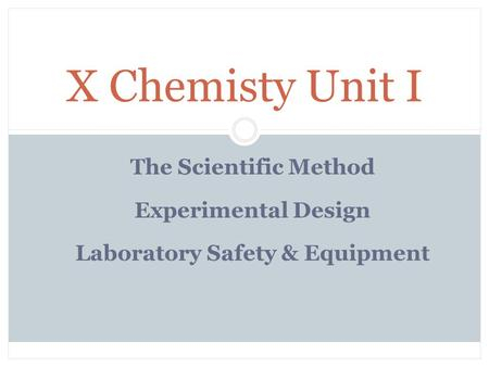 Laboratory Safety & Equipment
