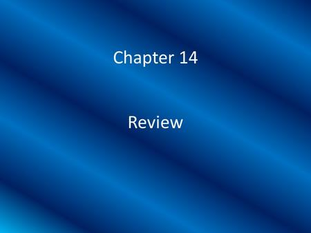 Chapter 14 Review. What is judicial review? The check on the legislative and executive branches by the Supreme Court to rule acts unconstitutional.