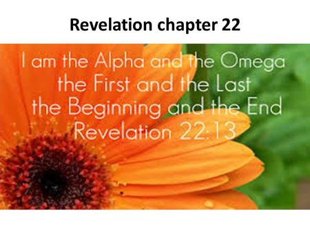 Revelation chapter 22. 1 Then he showed me a river of the water of life, clear as crystal, coming from the throne of God and of the Lamb, 2 in the middle.