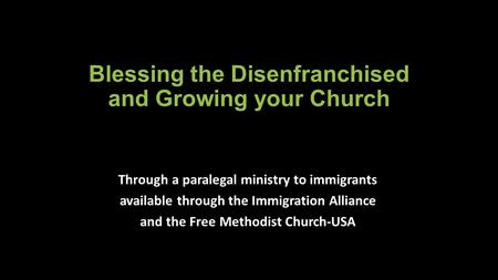 Blessing the Disenfranchised and Growing your Church