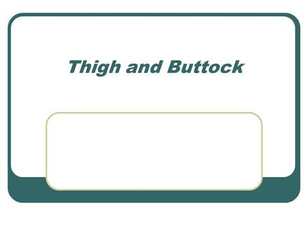 Thigh and Buttock.