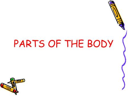 PARTS OF THE BODY.
