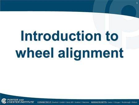 1 Introduction to wheel alignment. 2 When is an alignment necessary Whenever components in the suspension system have been removed and replaced. –Strut.