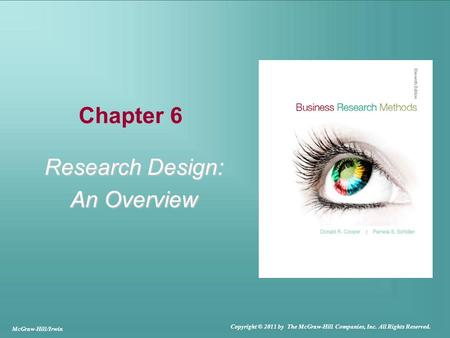 Research Design: An Overview