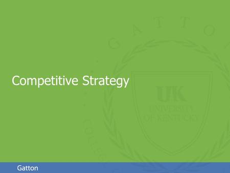 Page 1 Competitive Strategy. Page 2 Business-level [Competitive] Strategy Since we're in the XYZ industry, how do we compete? Profit = (Price – Cost)