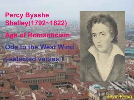 shelley ode to the west wind analysis pdf