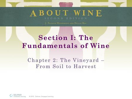 Section I: The Fundamentals of Wine Chapter 2: The Vineyard – From Soil to Harvest.