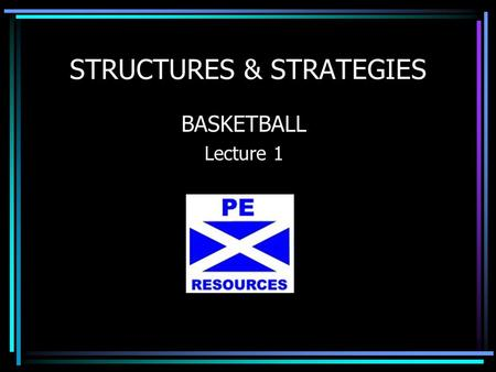 STRUCTURES & STRATEGIES BASKETBALL Lecture 1. CYCLE OF ANALYSIS (Recap) 1. INVESTIGATE – Where you explain how a specific aspect of performance was investigated.