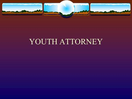 YOUTH ATTORNEY. GENERAL PROVISIONS, ARTICLE 1:  The primary change in the general provisions article is the establishment of an attorney for children.