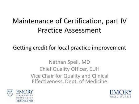 Changes to ABIM\'s Maintenance of Certification Program. - ppt download