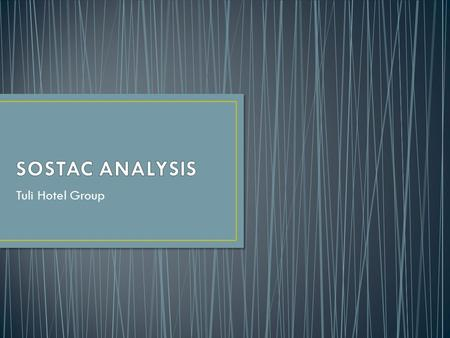 SOSTAC ANALYSIS Tuli Hotel Group.