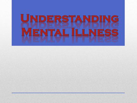 What is a mental health disorder? A mental disorder is a diagnosable illness that affects a person's thoughts, emotions and behaviors. Someone with a.