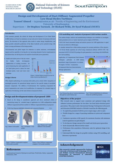 Design and Development of Duct-Diffuser Augmented Propeller Low Head Hydro Turbines Faculty of Engineering and the Environment Tauseef Ahmed –
