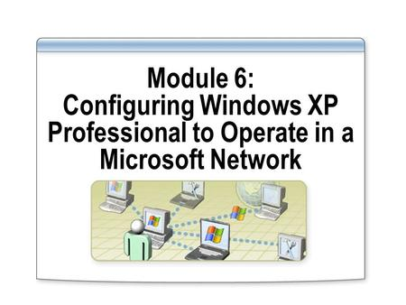 Module 6: Configuring Windows XP Professional to Operate in a Microsoft Network.