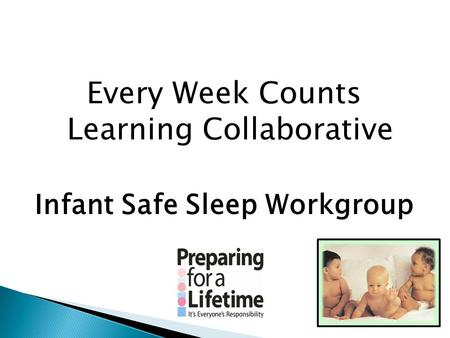 Every Week Counts Learning Collaborative Infant Safe Sleep Workgroup.