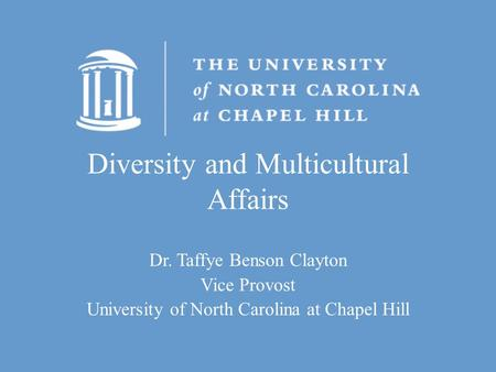 Diversity and Multicultural Affairs