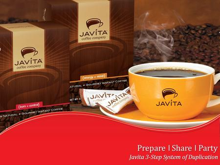Prepare l Share l Party Javita 3-Step System of Duplication.