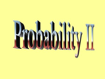 Probability Denoted by P(Event) This method for calculating probabilities is only appropriate when the outcomes of the sample space are equally likely.