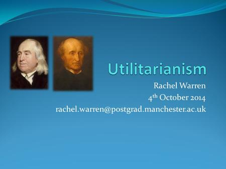 Rachel Warren 4 th October 2014