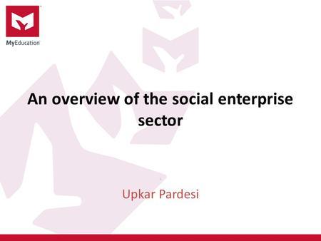 An overview of the social enterprise sector