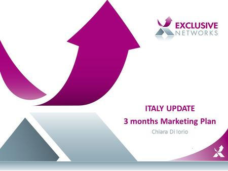 ITALY UPDATE 3 months Marketing Plan Chiara Di Iorio.