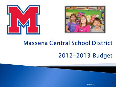 Massena Central School District 2012-2013 Budget 5/10/20151.