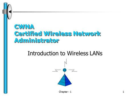 Chapter - 11 CWNA Certified Wireless Network Administrator Introduction to Wireless LANs.