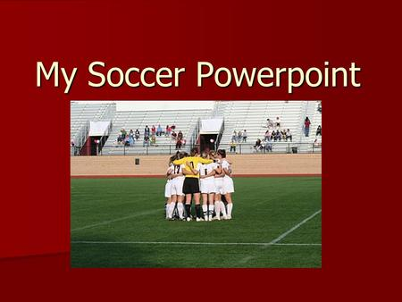 My Soccer Powerpoint. Goals I wanted to create a website to support the WAC soccer team that was easy to navigate and portrayed different information.