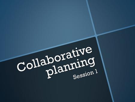 Collaborative planning Session 1. MYP UNITS OF WORK SUBJECT-BASED OR INTERDISCIPLINARY IN NATURE.