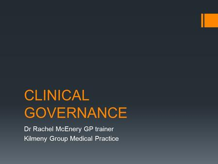 Dr Rachel McEnery GP trainer Kilmeny Group Medical Practice