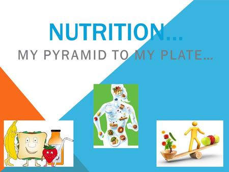 NUTRITION… MY PYRAMID TO MY PLATE…. MY PLATE…  Balancing Calories  Enjoy your food, but eat less.  Avoid oversized portions.  Foods to Increase.