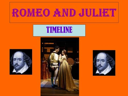 Romeo and Juliet TIMELINE.