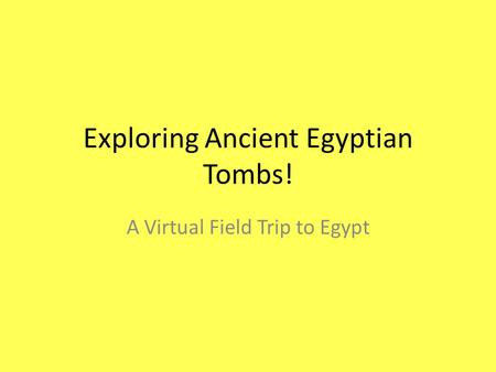 Exploring Ancient Egyptian Tombs!