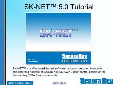 sk-net™ 5 0 tutorial sk-net™ is a windows� based software
