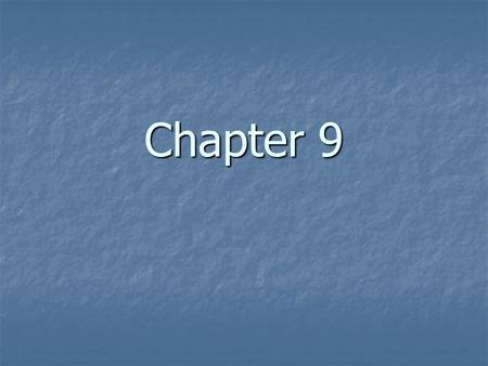 Chapter 9.