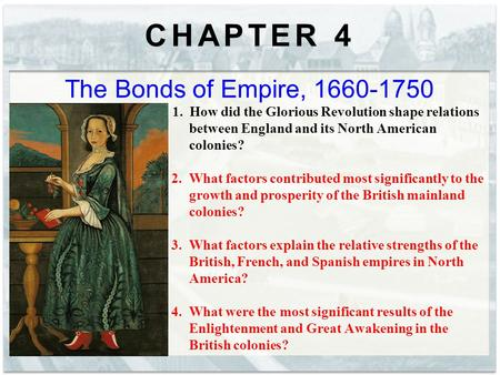 CHAPTER 4 The Bonds of Empire,