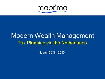 Modern Wealth Management