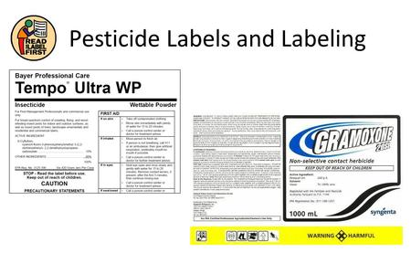 Pesticide Labels and Labeling. Pesticide Registration Pesticide registration is a scientific, legal and administrative procedure conducted by EPA.