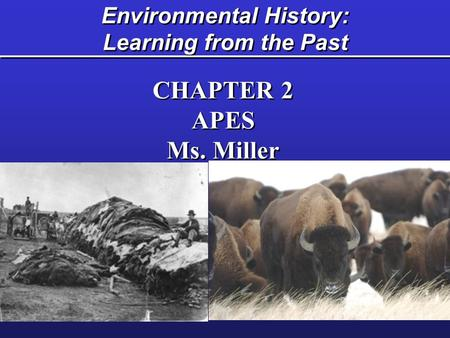 Environmental History: Learning from the Past CHAPTER 2 APES Ms. Miller CHAPTER 2 APES Ms. Miller.