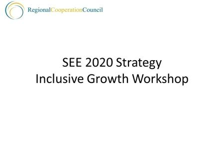 SEE 2020 Strategy Inclusive Growth Workshop