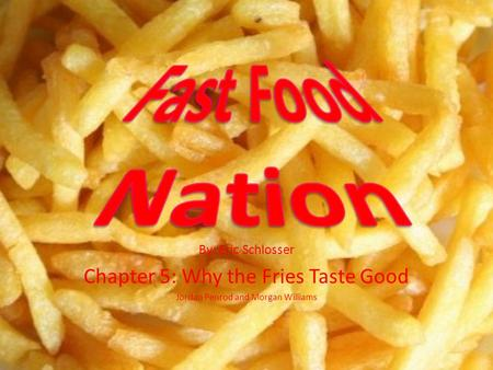 fast food nation chapter 5 quotes