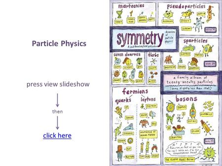 Particle Physics press view slideshow then click here.