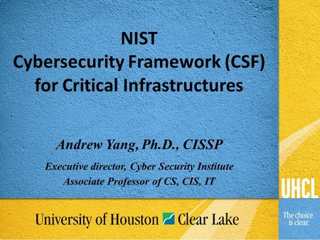 The NIST Framework for Cybersecurity - ppt video online download