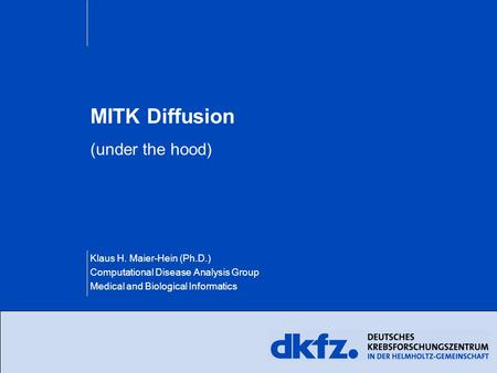 MITK Diffusion (under the hood)